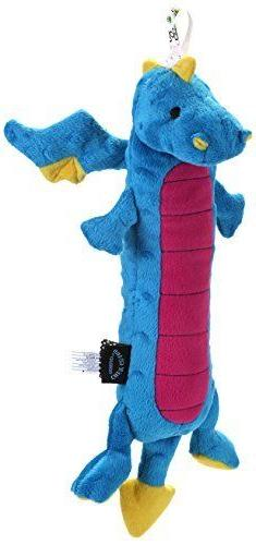 goDog Skinny Dragons Blue Large Toy with Chew Guard