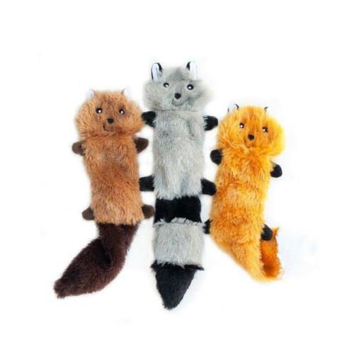 Skinny Peltz Stuffing Squeaky Dog Fox,