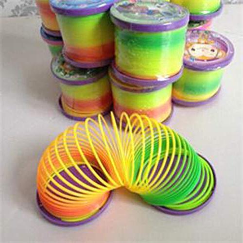 slinky rainbow spring magic plastic
