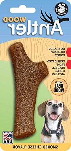 Pet Qwerks Smoked Cheese Flavor Infused Nylon Antler for Agg