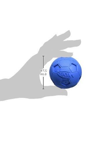 Nerf Squeak Dog Toy, Red/Blue,