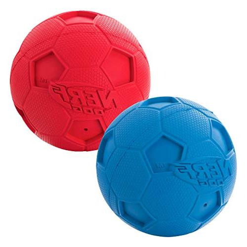 Nerf Dog Squeak Ball Toy, Red/Blue,