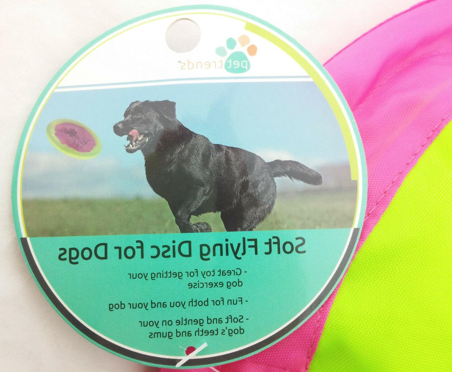 SOFT DISC FRISBEE DOG TOY FETCH EXERCISE FLOPPY SAUCER PET