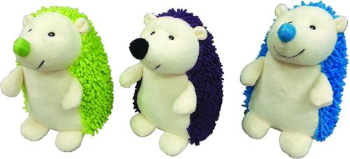 Spot Giggler Plush Hedgehog Dog Toy Color: Assorted. Size: 6