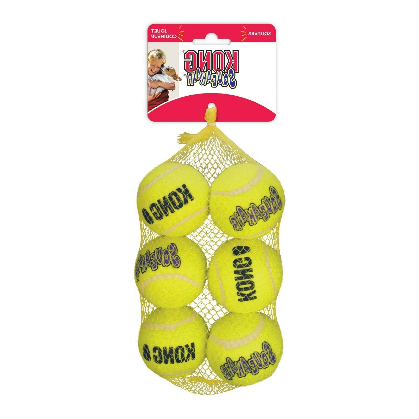 squeak air balls dog toy
