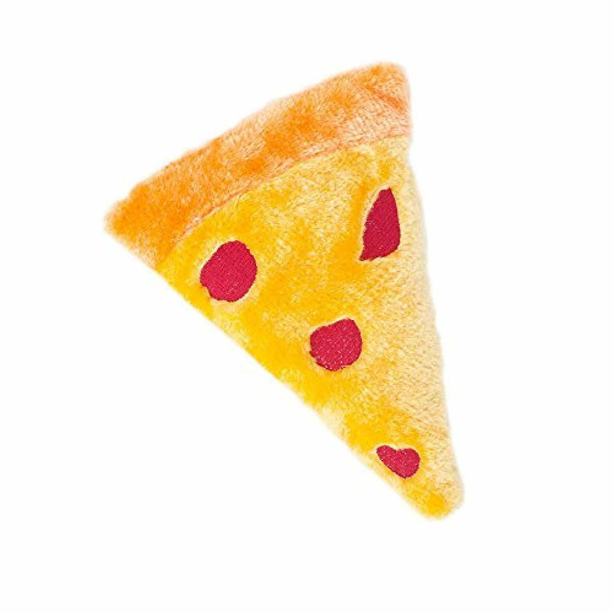 squeakie emojiz squeaky plush dog toy pizza
