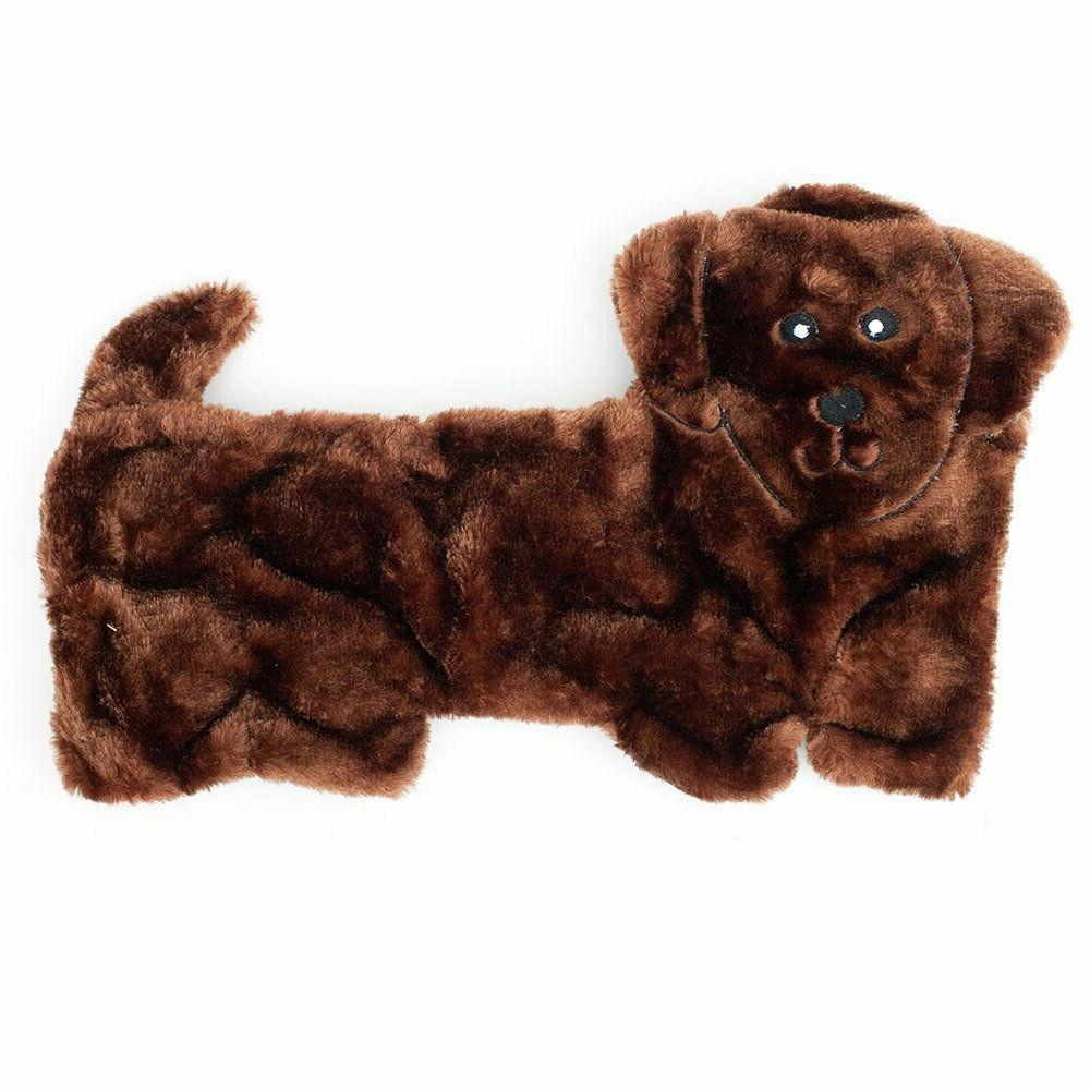 squeakie pup no stuffing plush dog toy