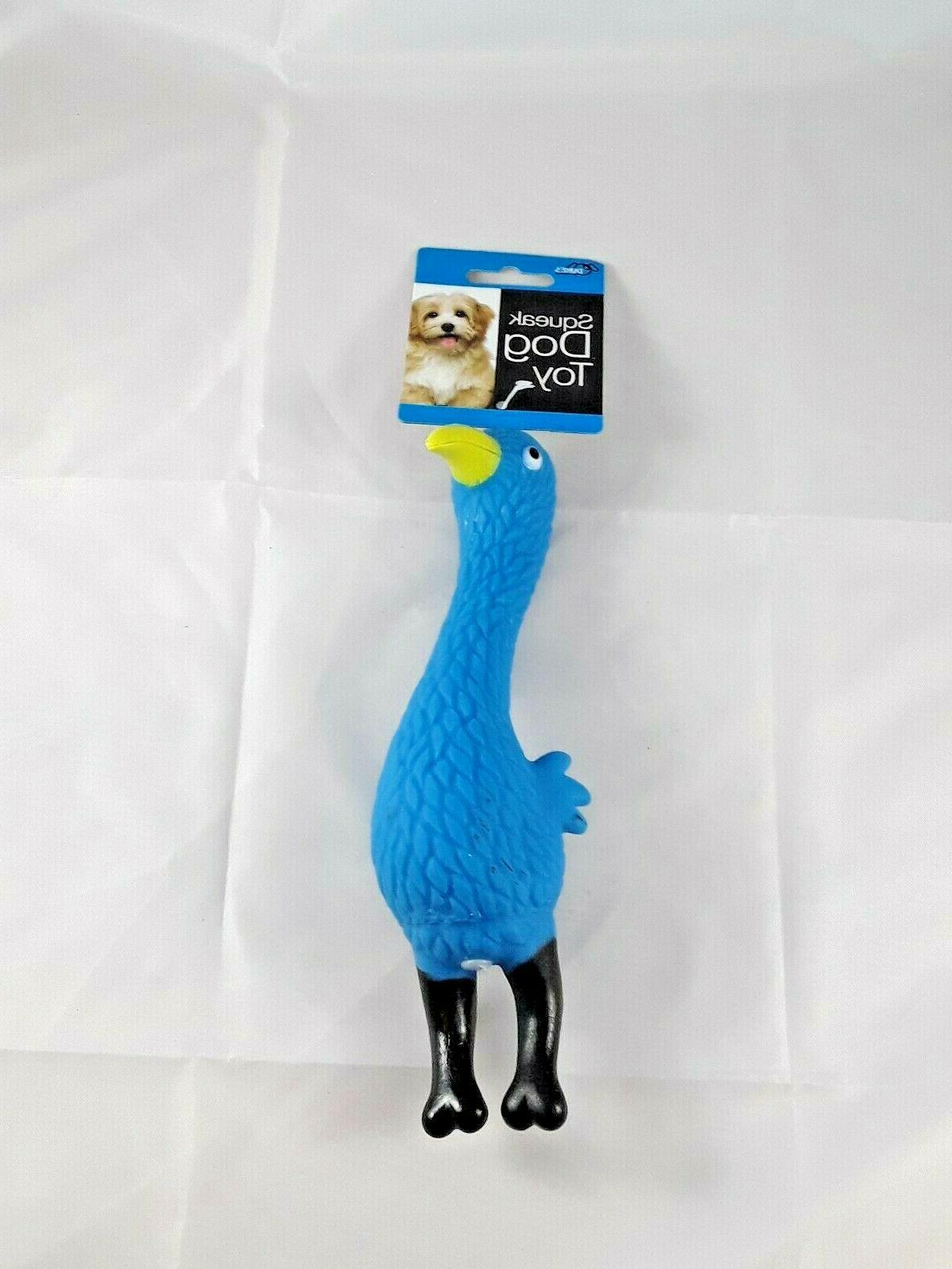 """Squeaky Bird for small 8"""" 3"""" colors Blue"""