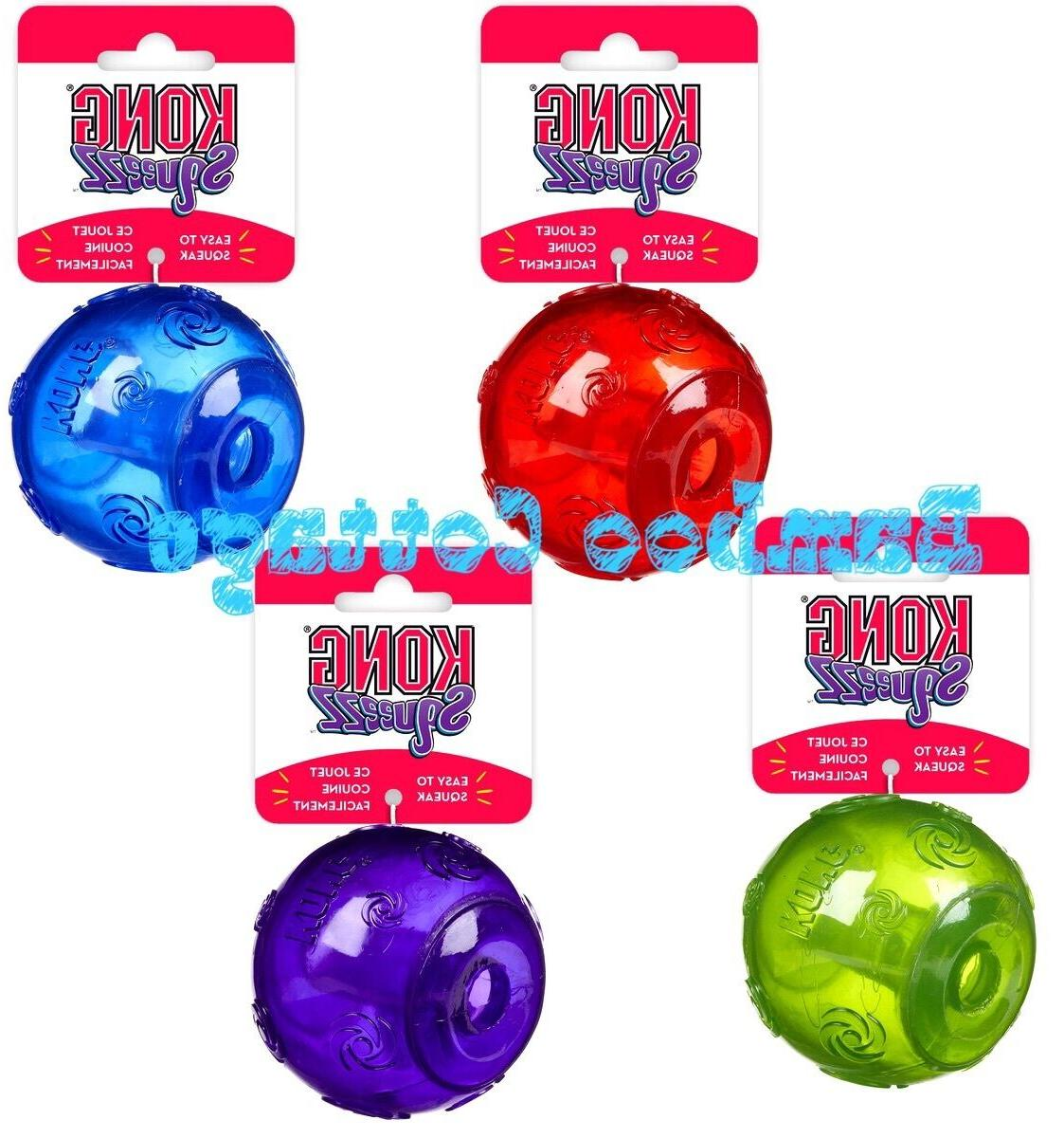 KONG Squeezz Ball Squeaker Dog Puppy Toy medium large XL squ