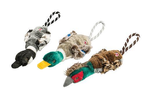 "Stretch Dog Toys & Rope Birds 18"""