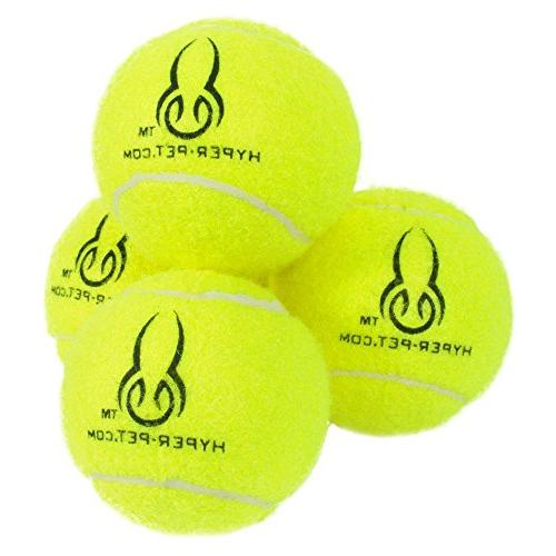 Hyper Pet Tennis for Dogs, Dog for and Training, Pack 4, Green