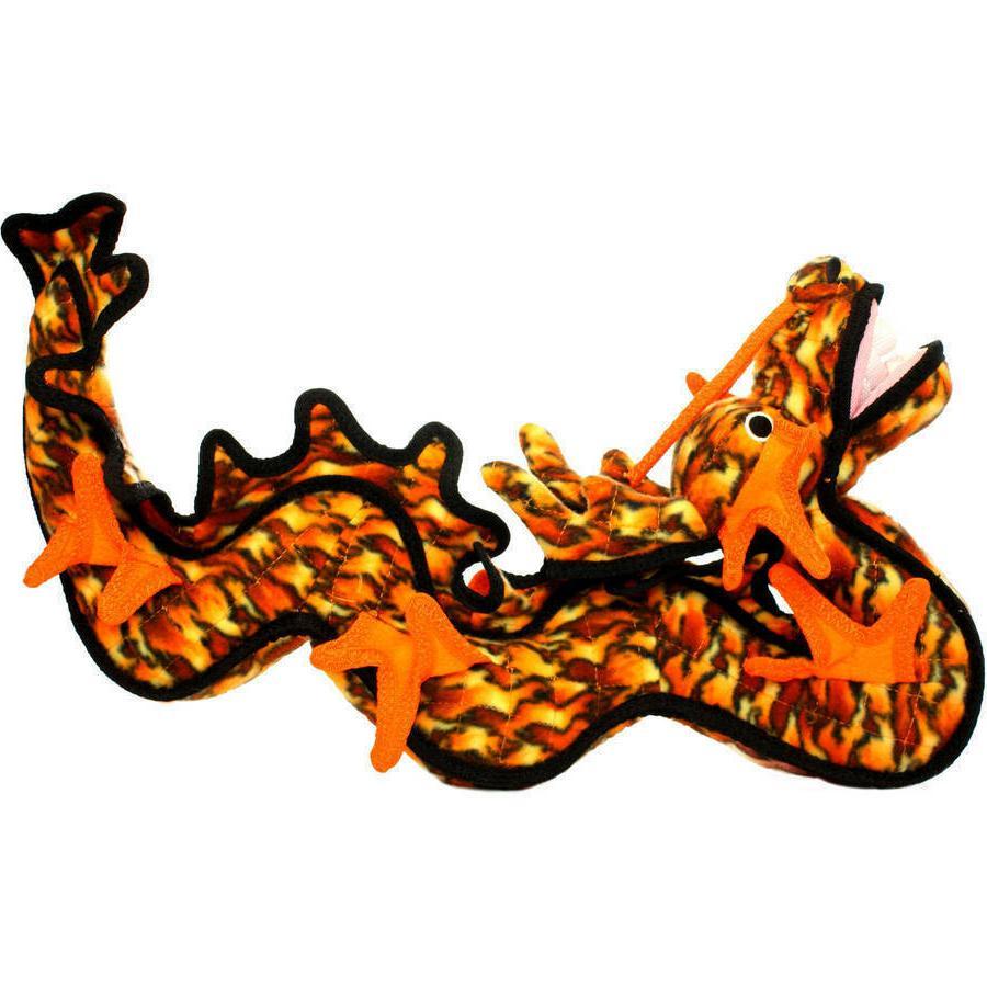 tuffy dragon orange dog toy multicolor