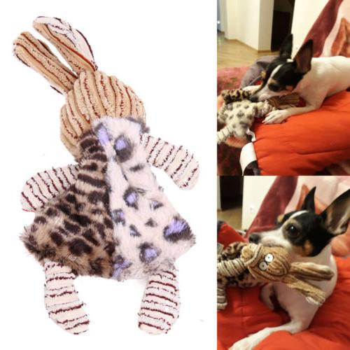 Unstuffed Plush Puppy Dog Pet Squeaker Toys Funny Sound Toy