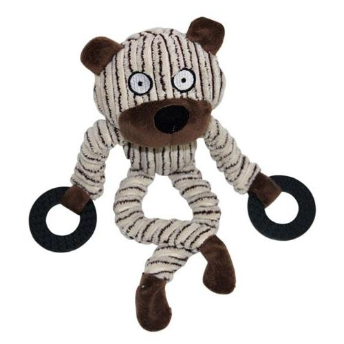 Unstuffed Plush Pet Squeaker Toys Funny Play Toy
