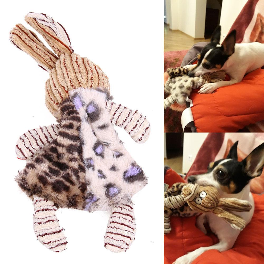 Unstuffed Plush Dog Carrot Puppy Pet Squeaker Toys Squeaky Sound Play Chew Toy