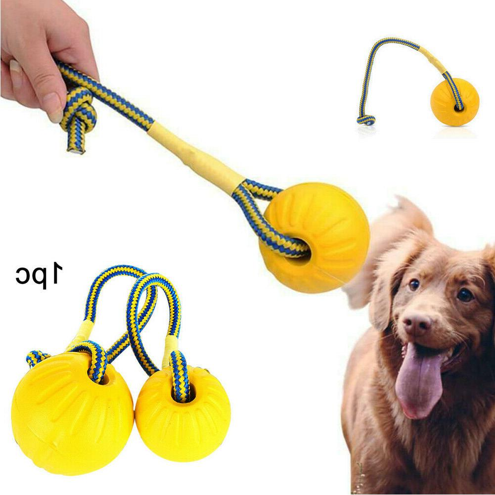 US Indestructible Dog Ball on a Rope for Pet Puppy Toys Tug