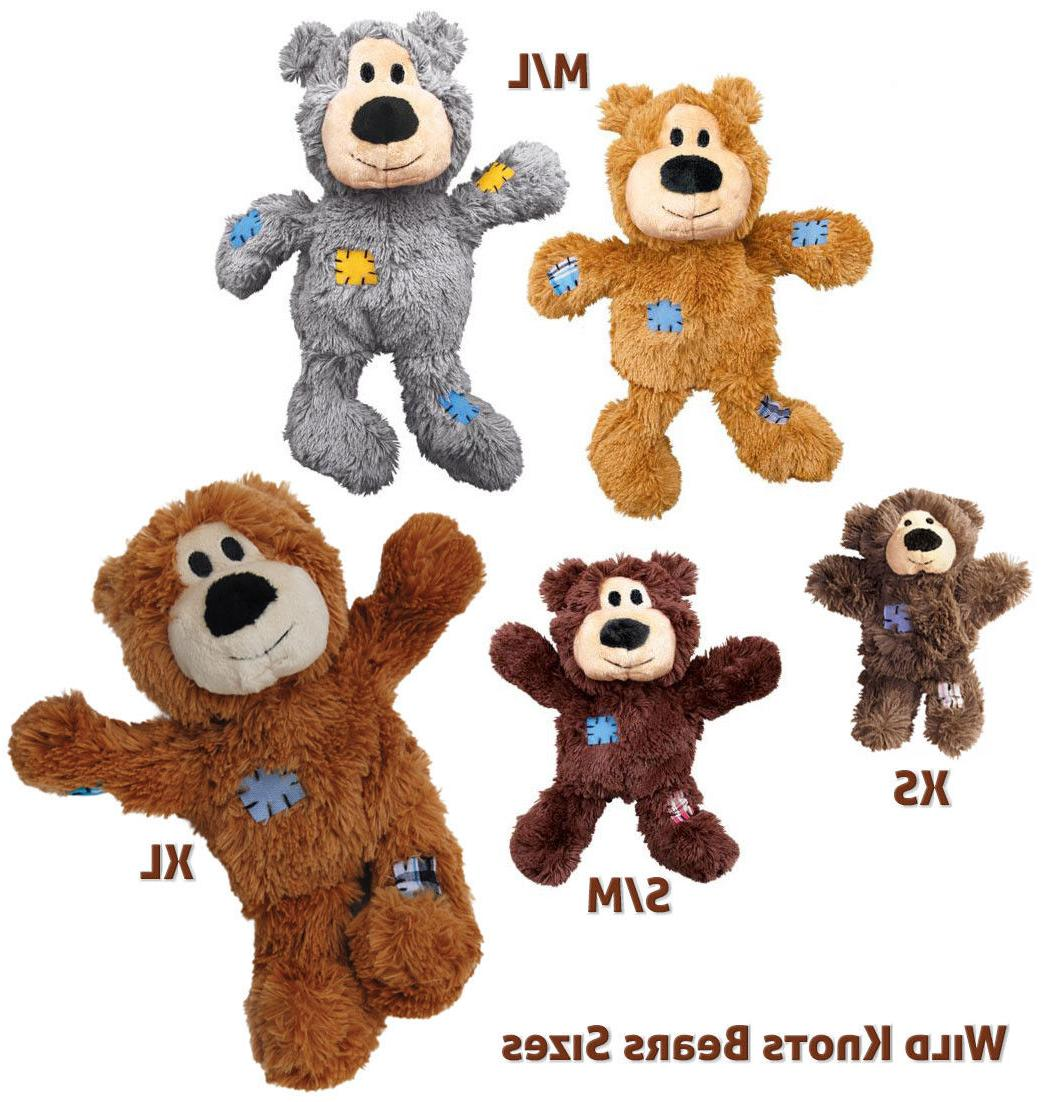 wild knots bear dog toy color varies