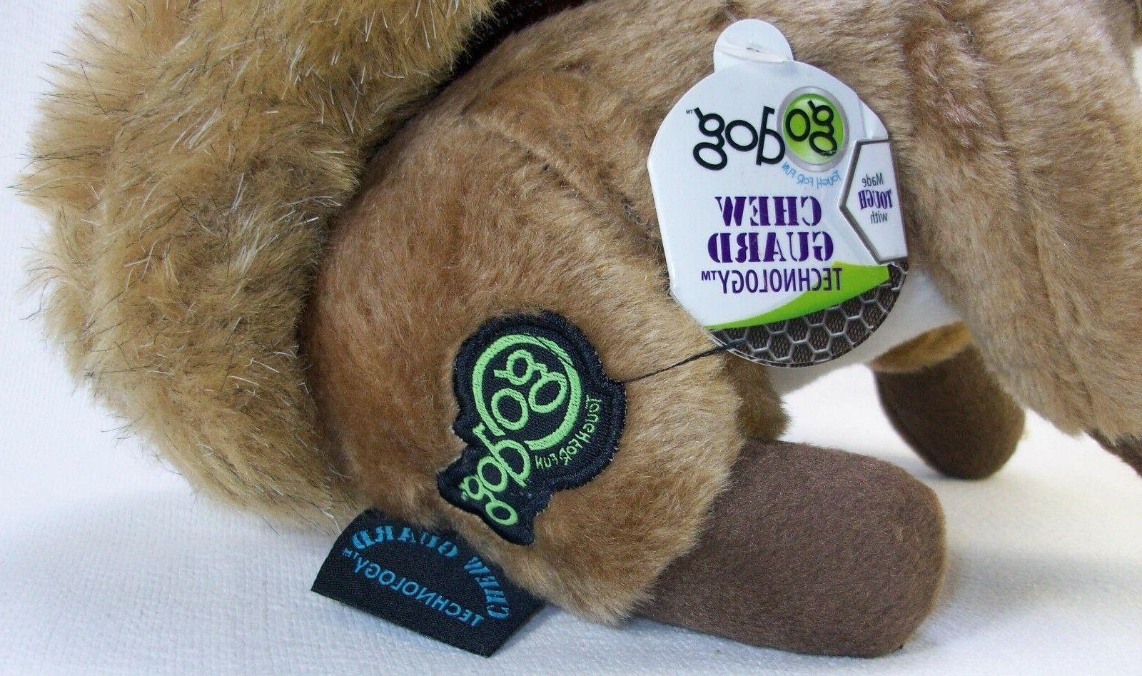 GoDog goDog Wildlife Dog Toy Squeaker Dog Toy with Guard Brand New