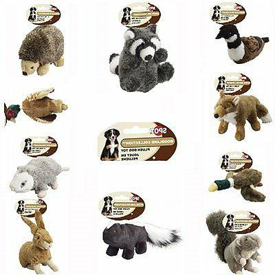 Ethical Pet Woodland Series 12.5-Inch Raccoon Plush Dog Toy,