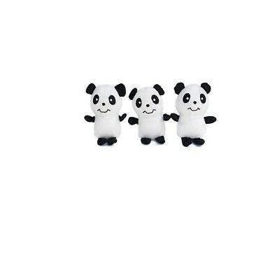 ZippyPaws Zippy Miniz Pandas for Dog Toy Round squeaker 3 Pa