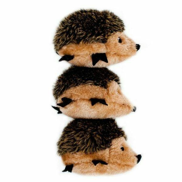 zippy paws 3 pack replacement hedgehogs squeak