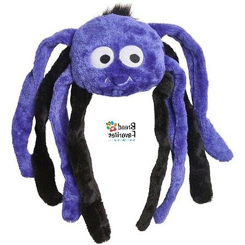 Zippy-Paws Halloween Spider Grunter Dog Size Large: Purple