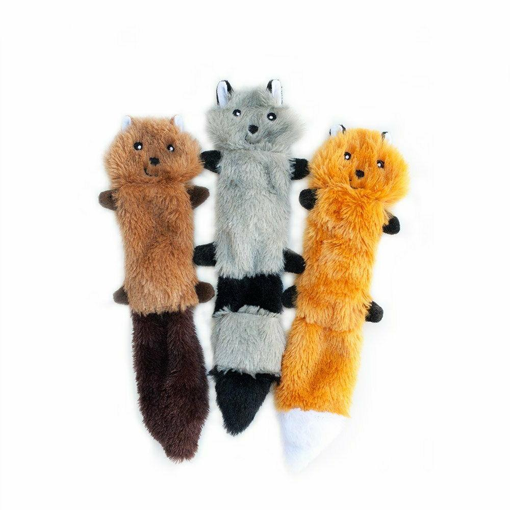 ZippyPaws - No Stuffing Dog Toy, Fox Squirrel
