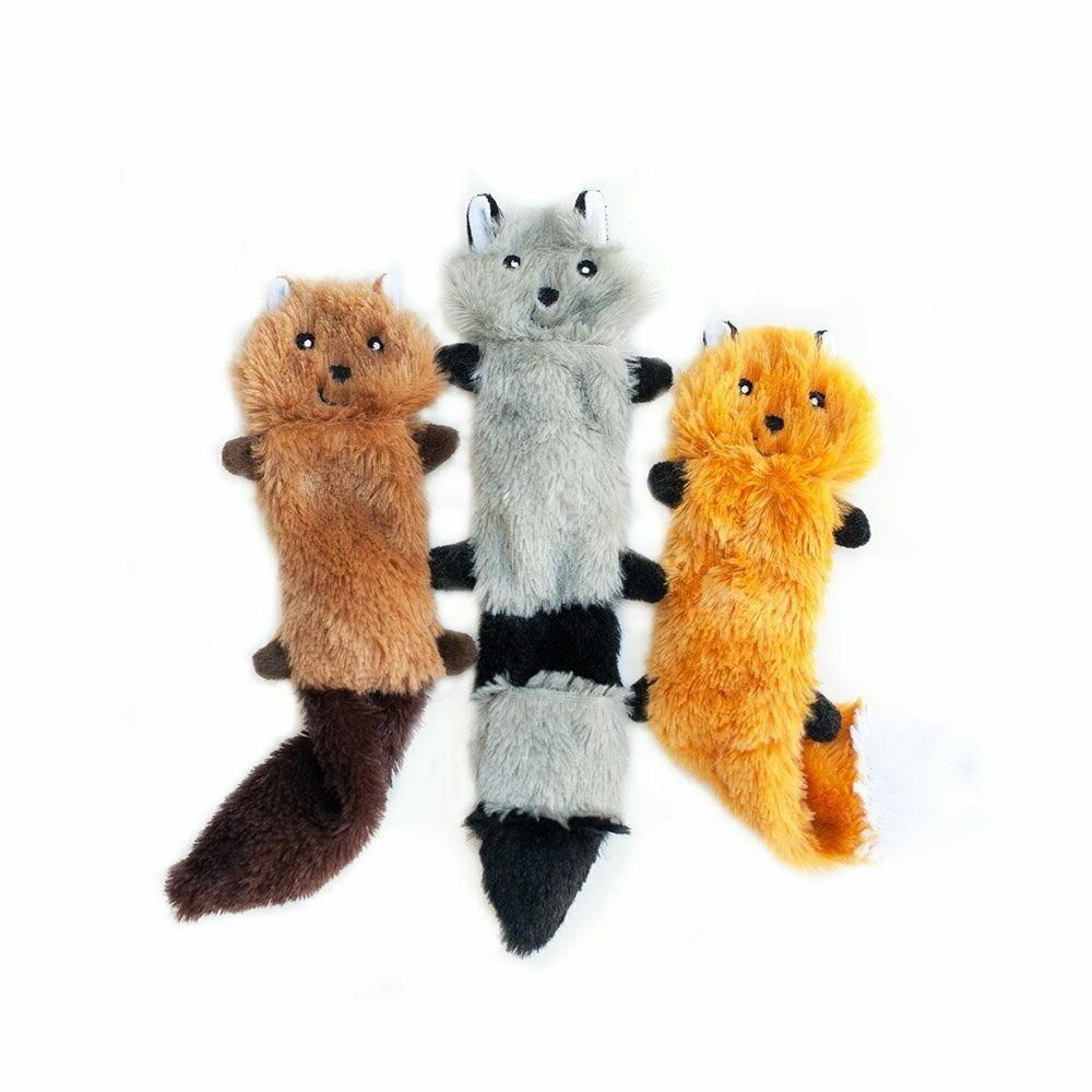 ZippyPaws No Dog Toy, Fox Squirrel