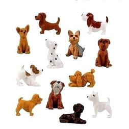 Complete Set Plus 6 More Adopt a Puppy Dog Figures Dachshund Basset Hound Bull Terrier Jack Russell Dalmatian Black Labrador Yorkshire Boxer Bloodhound Bulldog Poodle Chihuahua Toy 18 Pieces