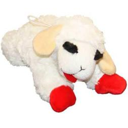 Multipet Boy Girl Puppy Lamb Chop Small White Plush Squeaky