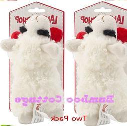 Multipet Lamb Chop Dog Toy Plush & Squeak Toys Mini TWO PACK