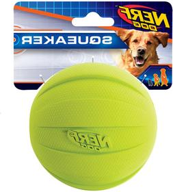 Large Nerf Dog Squeak Ball, Quality Materials For Fetch Medi