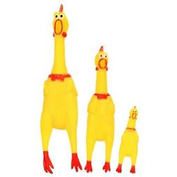 LARGE Squeak Squeaker Chew Gift Screaming Rubber Chicken Pet