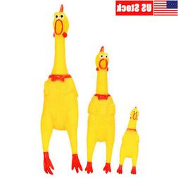 LARGE Squeaker Chew Gift Screaming Rubber Chicken Pet Dog Pu