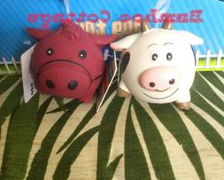 Multipet Latex Animal Ball Dog Toy set of TWO farm animals H