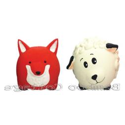 Latex Multipet Animal Ball Dog Toy set of TWO animals Sheep