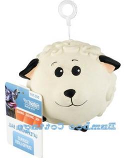 Latex Multipet Animal Ball Dog Toy Sheep 3 inch