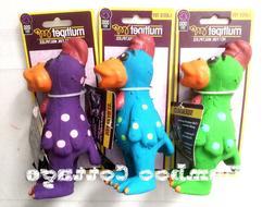 Multipet Latex Polka Dot Globken Chicken Dog Toy 5 1/2 inch