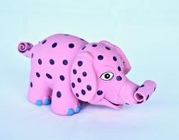Latex Squeaker Dog Toys, Pink Elephant, Dragon, Green Dinosa