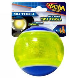 Nerf LED Blaze Tennis Ball Blue/Green Dog Toy, Medium