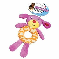 Ethical Pet Lil Spots Plush Ring Toys for Small Dogs and Pup