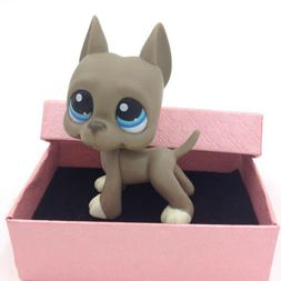 Littlest Pet Shop LPS 184 Toys Gray Great Dane Dog Hasbro Ki