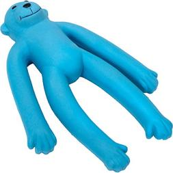 11 Inch Long Legged Blue Soft Latex Filled Monkey Dog Toy By