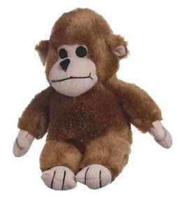 "MULTIPET LOOK WHO'S TALKING MONKEY 7"" PLUSH SOFT DOG TOY. FR"