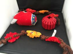 Lot of 3 red toys for your small dog