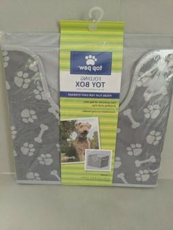 ) TOP PAW DOG TOY BOX FOLDING 12 X 12 X 11 BRAND NEW DURABLE