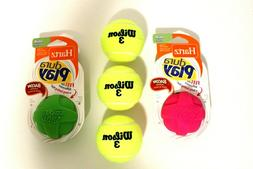 Lot of Two Hartz Dura Play Ball Dog Toys,  Assorted, With 3