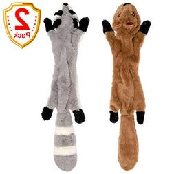 LOVEKONG Stuffingless Dog Toys, Stuffing Free Dog Chew Toys
