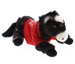 DolliBu Lying Black Horse I Love You Valentines Stuffed Anim