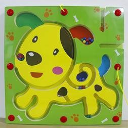 GoodPlay Magnetic Maze Puzzle Game Toys,Wooden Bead Maze 2-